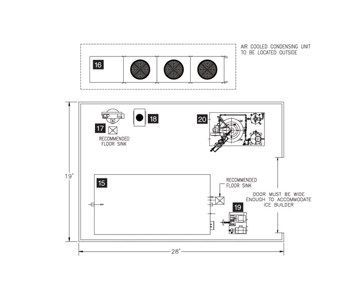 cook chill system plan f: 12,000 meals per day
