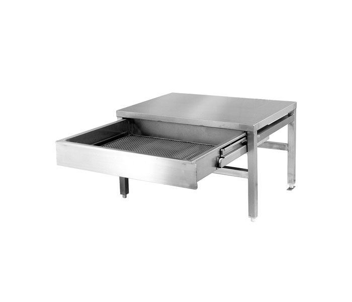 ST28 Equipment Stand. For Counter top kettles and braising pans (skillets). Shown with optional Fold